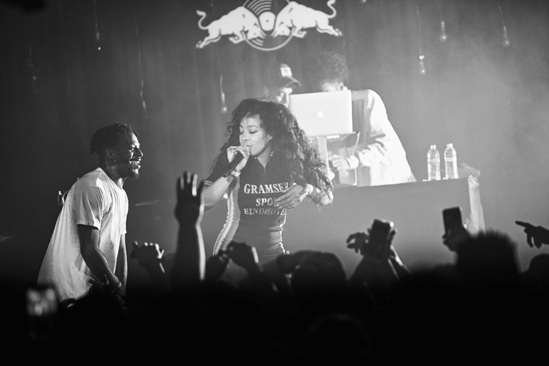 Isaiah Rashad performs with SZA at The Echoplex as part of Red Bull Sound Select Presents: 30 Days in LA, in Los Angeles, CA, USA on 14 November, 2016. // Koury Angelo / Red Bull Sound Select / Content Pool // P-20161115-01298 // Usage for editorial use only // Please go to www.redbullcontentpool.com for further information. //