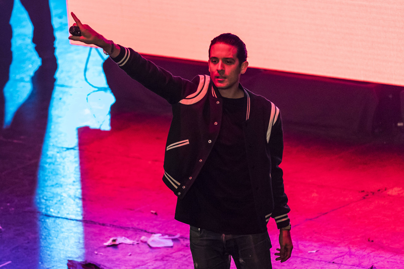 G-Eazy joins YG on stage as a guest during his performance at The Wiltern Theater as part of Red Bull Sound Select Presents: 30 Days in LA, in Los Angeles, CA, USA on 29 November, 2016. // Marv Watson / Red Bull Sound Select / Content Pool // P-20161130-00676 // Usage for editorial use only // Please go to www.redbullcontentpool.com for further information. //