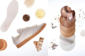 adidas' latest concept shoe Stan Smith Mylo, introduces a mushroom-based material.